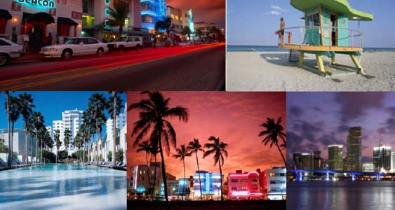 Miami Beaches and Art Deco Photos